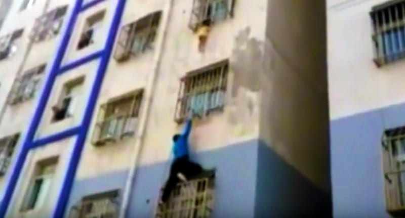 Real Life Spider Man Saves Baby Dangling From Building 40633UNILAD imageoptim blue shirt
