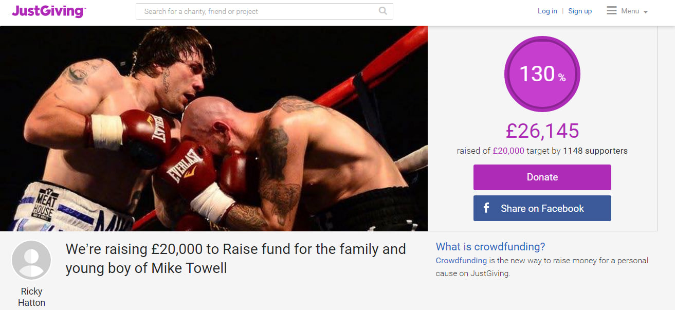 Ricky Hatton Sets Up Fundraising Page For Boxer Mike Towells Family wsi imageoptim dadada
