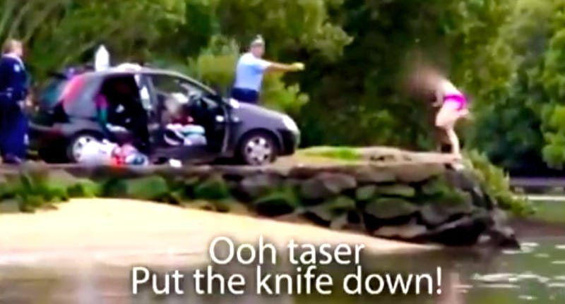 wsi imageoptim tas Party Girl In Bikini Gets Tasered By Police Before Running Into Woods