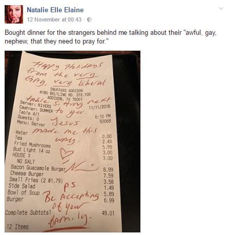 15594UNILAD imageoptim bill 1 Woman Leaves Brilliant Note For Homophobic Family In Restaurant