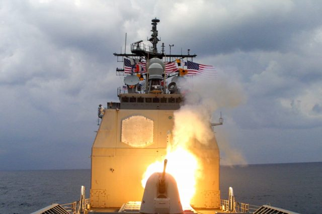 29828UNILAD imageoptim USS Anzio CG 68 fires a Tomahawk missile during OIF 640x426 Heres When Trump Will Get Nuclear Codes And How Easy They Are To Use