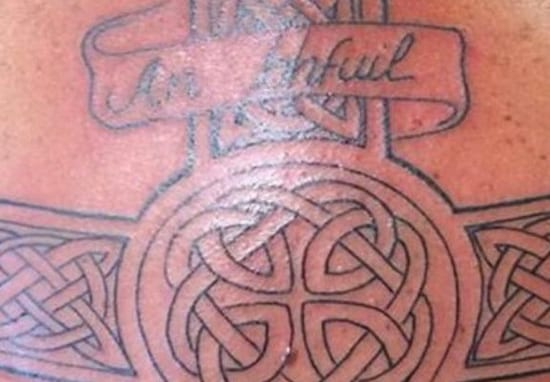 Guy Gets Gaelic Tattoo, Doesn't Translate To What He Hoped At All