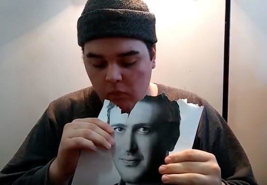 This Guy Is Eating A Picture Of Jason Segel Every Day