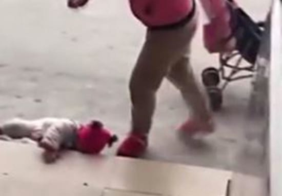 Shocking Video Shows Cruel Mother Caught Kicking Baby Because She Won't Stop Crying