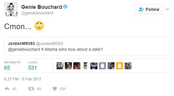 Eugenie Bouchard To Date A Fan After Losing Bet 61687UNILAD imageoptim Genie1