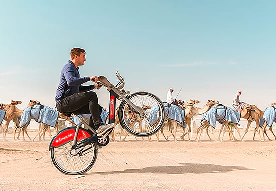 This Guy Cycled Round The World On A Boris Bike For Amazing Reason