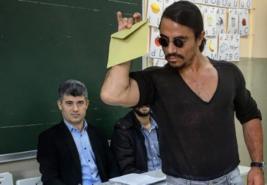 Salt Bae Voted Exactly Like He Pours Salt In The Meme