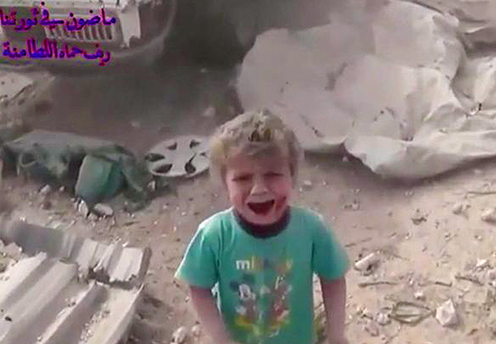 Terrifying Moment Parachute Bombs Hit Syrian City Captured In Shocking Footage
